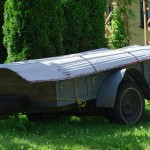 grey utility trailer